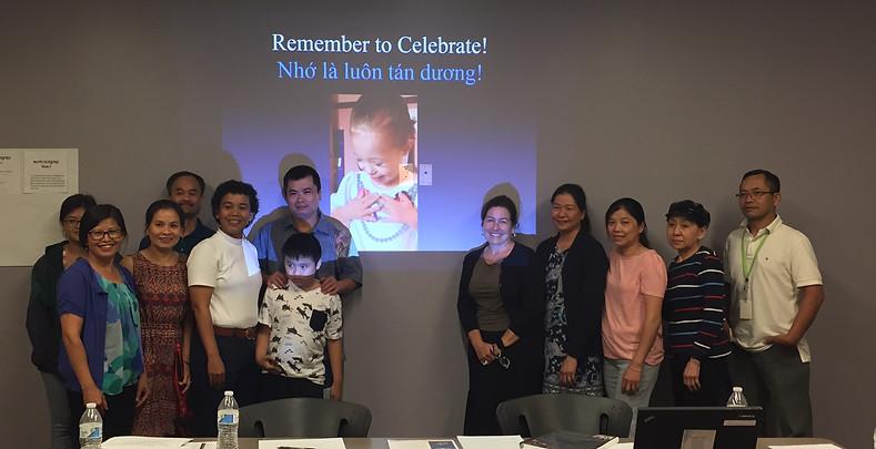 Multi-lingual presentation to Vietnamese families