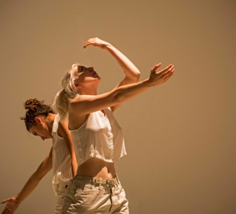 Image: Fernanda Monuz-Newsome and Rosalie Wahlfrid, From perfromance at The Barbican Centre. Work by; Fernanda Munoz-Newsom 2015.