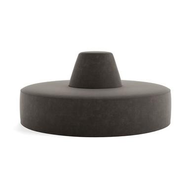CIRCULAR POUF - dark grey