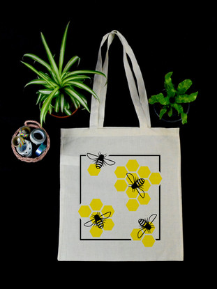 "Tote Bag ""Bees"""