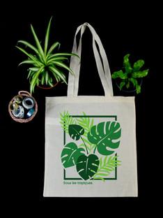 "Tote Bag ""Sous les Tropiques."""