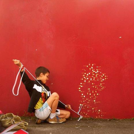 Un mur rouge
