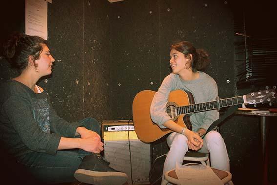 en studio au Rocksane