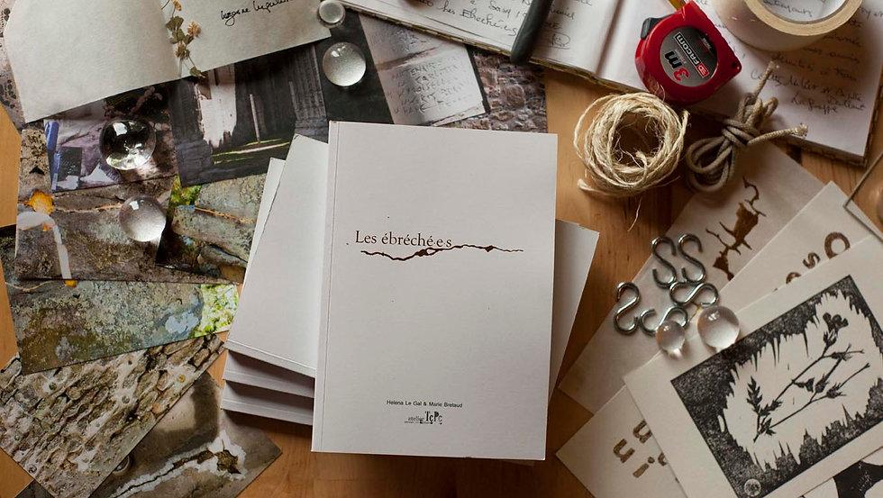Atelier tcpc Livre des ébréché.e.s résidence publication Ouvrage collectif graphisme Récit Art environnemental participatif culture territoire paysage Patrimoines