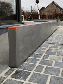Bekleding van beton klaar