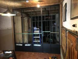 Plaatsing van deur en glas