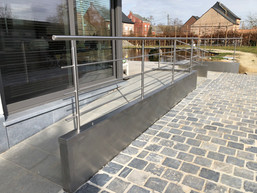 Inox bekleding van beton