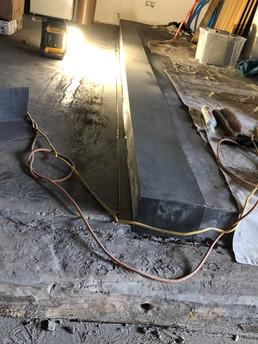 Afwerking van betonhoeken