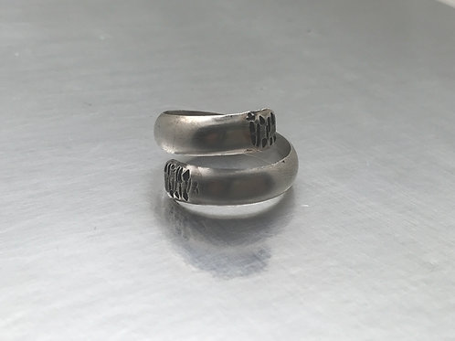 Unisex sterling silver bypass band ring in your size