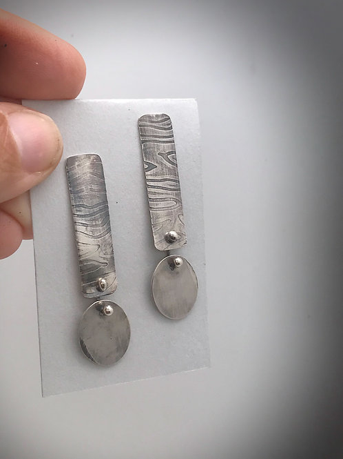 Sterling Post and Dangle Earrings