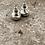flattened ball earrings in sterling silver. approx 3/8 inch in diameter. post style earrings