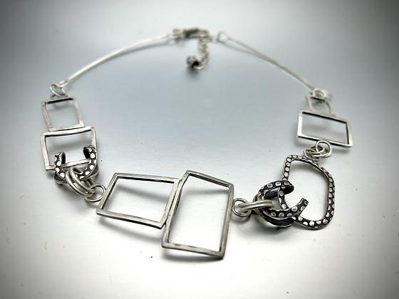 Wire and Fire shapes Neckpiece