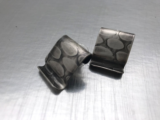 Square sterling stud earrings