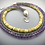 Thumbnail: Three strand amethyst and turquoise statement necklace