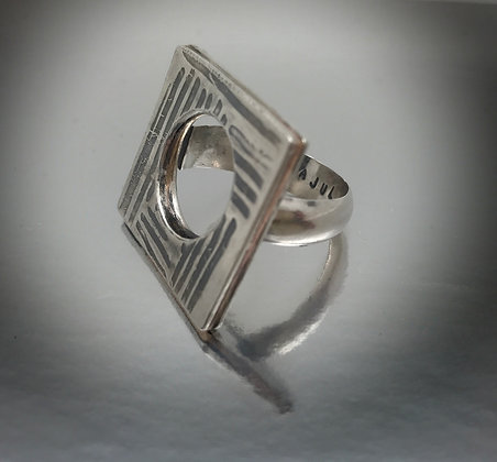 sterling square ring
