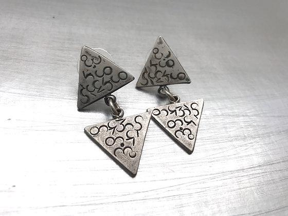 Sterling triangle post earrings