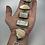 Thumbnail: 5 stone sterling chunky bracelet