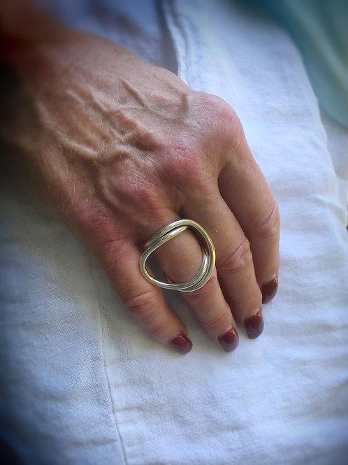 Sculptural Sterling Ring