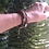 Thumbnail: Leather and Sterling Silver Three Strand Choker or Bracelet