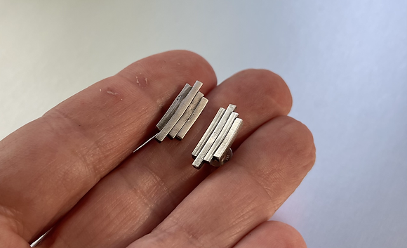 Stacked Sterling Studs