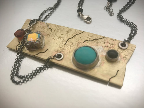 Gem treasures Art Pendent one of a kind