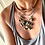Thumbnail: Leather, Sterling and Turquoise Neckpiece