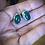 Thumbnail: Oval Green Onyx bezel set in sterling silver post stud earrings