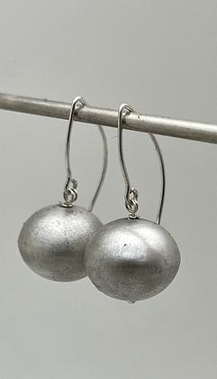large sterling silver ball dangle earrings