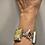 Thumbnail: Beach Feel Bold Bracelet in Sterling, Brass, Mother of Pearl, Serpentine