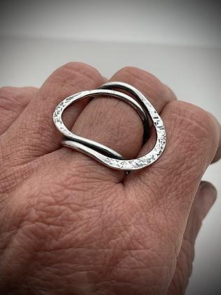 Modern sculptural sterling ring