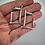 Thumbnail: Abstract darkened rectangle post earrings in sterling silver