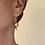 Thumbnail: Pierced copper ball earrings with elegant sterling earwire