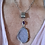large lavender colored drusy pendant bezel set with sterling silver. comes with handmade sterling silver chain. shown on mode