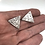 Thumbnail: Sterling silver Triangular Abstract stamping post Earrings