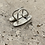 Thumbnail: Double  Onyx east west Sterling Silver ring