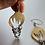 Thumbnail: Striking Sterling and Brass Dangle Earrings