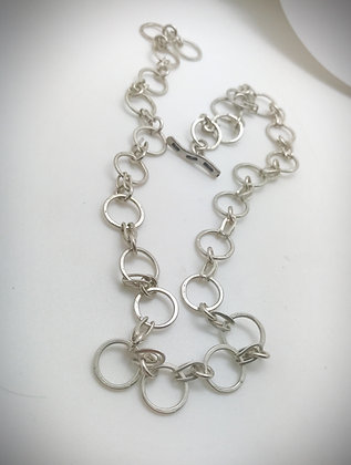 Sterling Silver handmade neck chain your choice of length