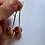 Thumbnail: Sterling Silver and Copper Ball dangle earrings