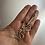 Thumbnail: Modern swirl dangle sterling earrings