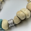 Thumbnail: One of a kind.. Serpentine, Turquoise and sterling silver statement necklace