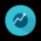 upward arrow in blue circle english to american