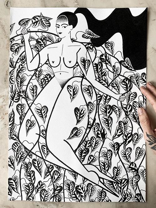POTHOS - Original A3 drawing.