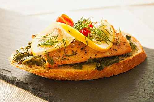 Lachs/Spinat