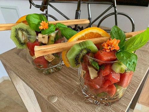 Fetakäse/Wassermelonensalat