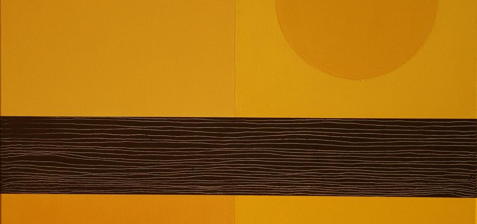 Parcelle de couleur, or