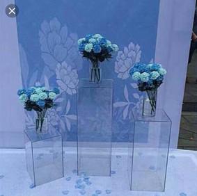 clear acrylic plinths