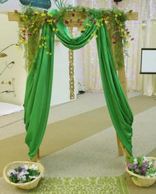 Garden Pergola with Fabric Draping