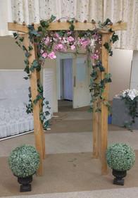 Garden Pergola with silk florals