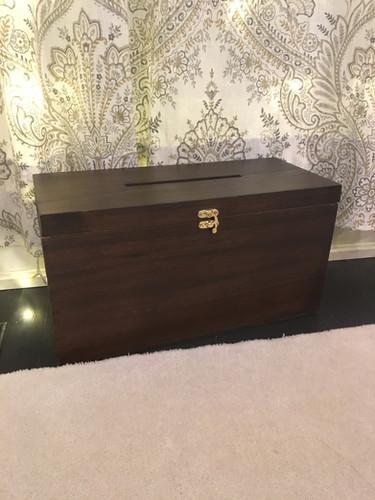 Dark Wood Card Box