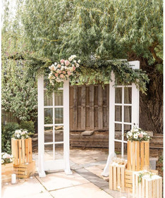 French Door Arbour with Fresh Florals